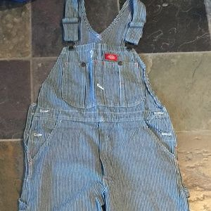 Dickies striped bib overalls size 32x32